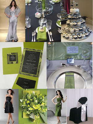 Black Silver Green Just for a wonderful elegant wedding day