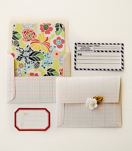 The pink couch an envelope tutorial for Homemade envelopes