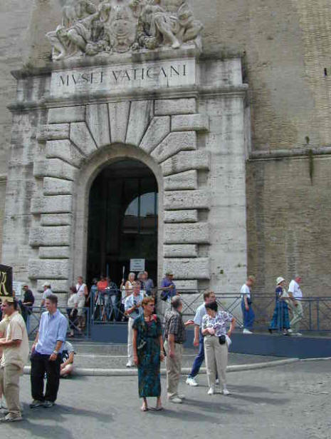 entrance to the Vatican in Rome