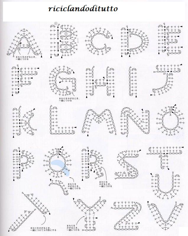 Valentine Amigurumi Free Pattern : RiciclandoDiTutto......: ALFABETO STILE DISNEY CON L ...