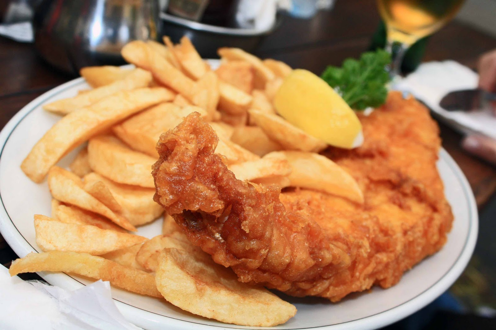 Tuck in go fish for London fish and chips