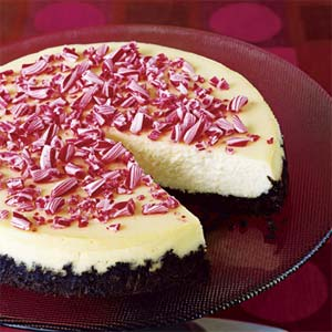 Dying for Chocolate: Crushed Peppermint Cheesecake