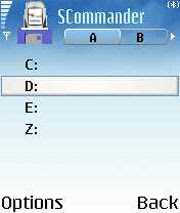 SCommander - A file manager for Symbian