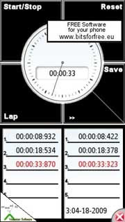 Soft Touch StopWatch is a chronometer for Symbian S60 5th Edition.