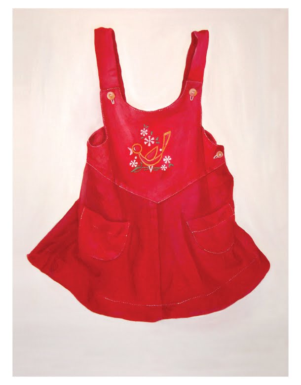 red childhood dress
