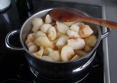 elaboración de compota de manzana