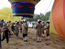 Globo Montgolfier Aranjuez en la Regata de Igualada