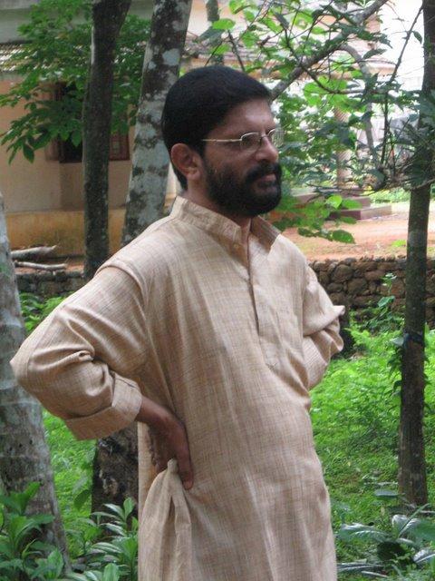Hari S Kartha watching the beauty of Thodupuzha
