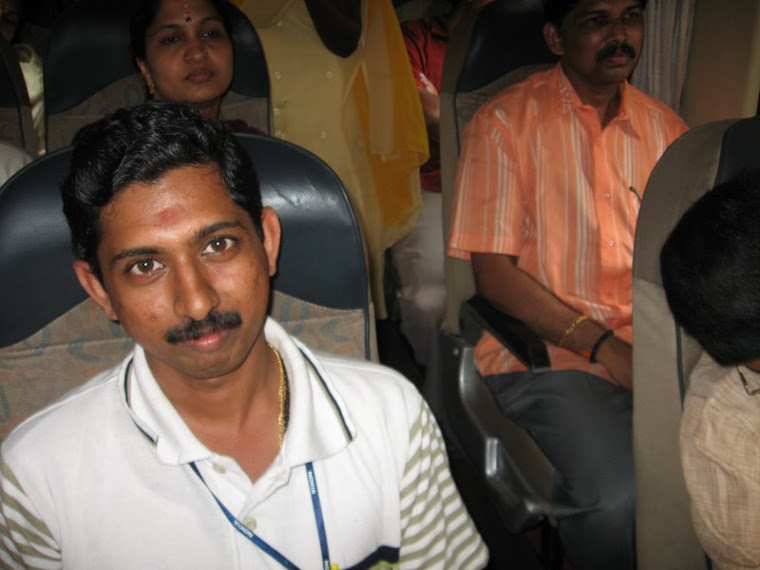 Inside of the bus - Rajesh Chandran, Geeta and Sudhir Neerattupuram
