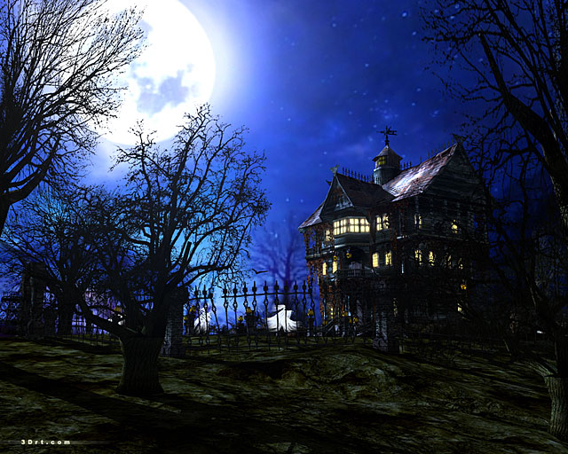 A creepy abode with a few mischievous ghosts. A sinister manor with an immortal host.