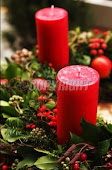 I love red Christmas candles.