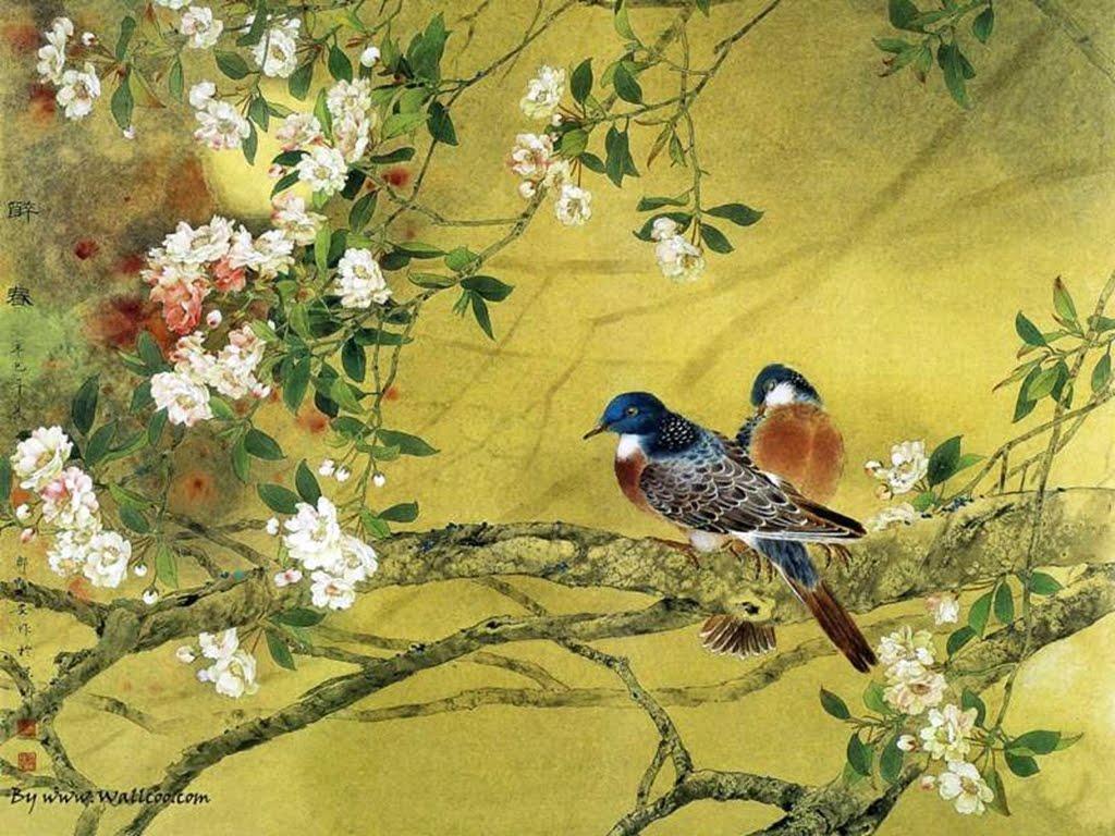 Matin lumineux peinture chinoise for Chinese mural art