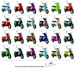 Motor cycle Review : Vespa in Many Colour