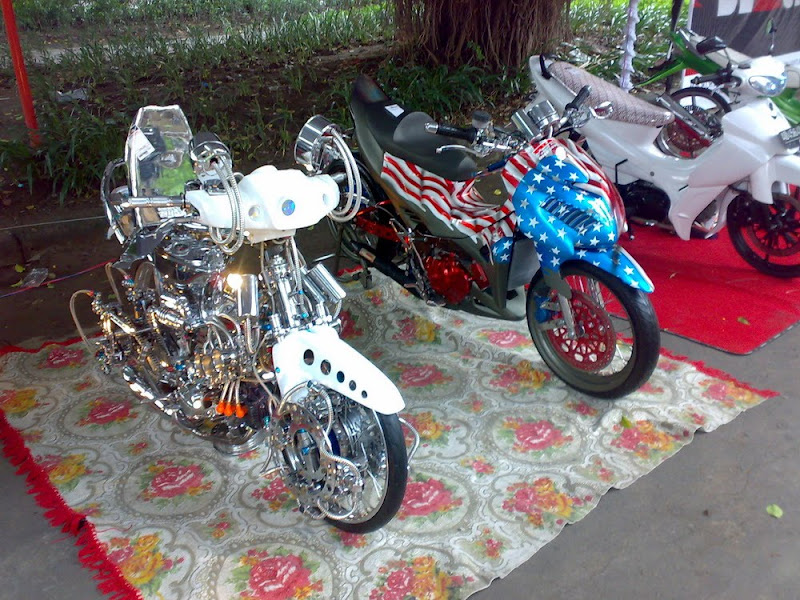 Modifikasi Motor Honda Grand dengan air Brush title=
