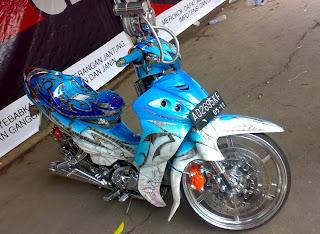 photo motor contest : jupiter z contest karang anyar