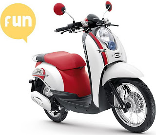 cute color options Honda Scoopy 3
