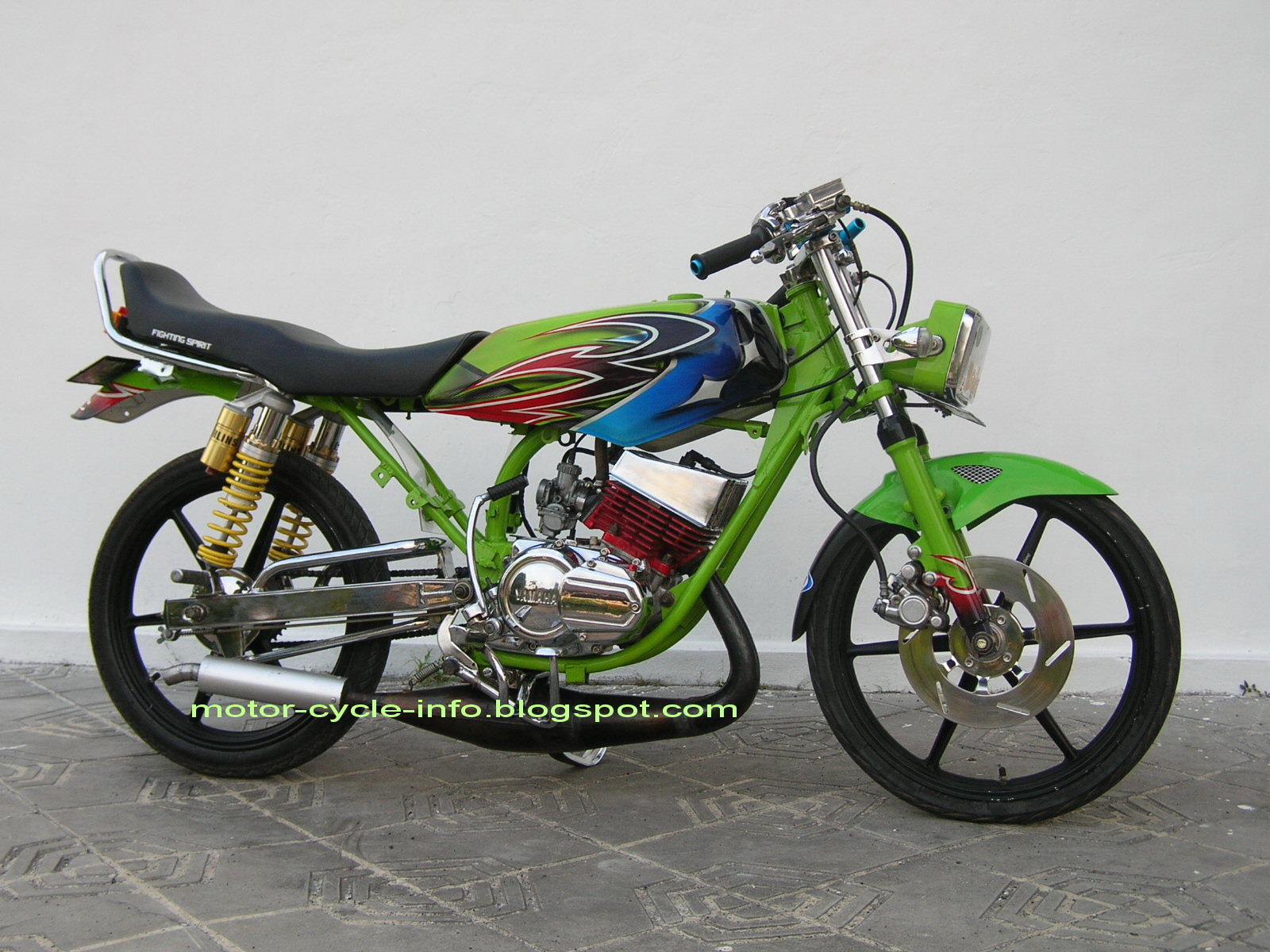 make this motor cycle more attractive ready for a contest motor event title=
