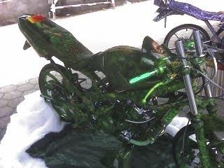 kawasaki ninja green airbrush motor contest