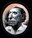 imagen charles bukowski dibujo en color