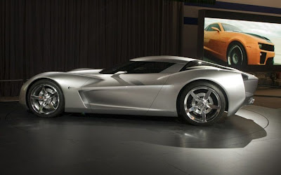 Chevrolet Corvette Stingray Hybrid Concept on Conceptcar1 Blogspot Comstingray Sideswipe 2009
