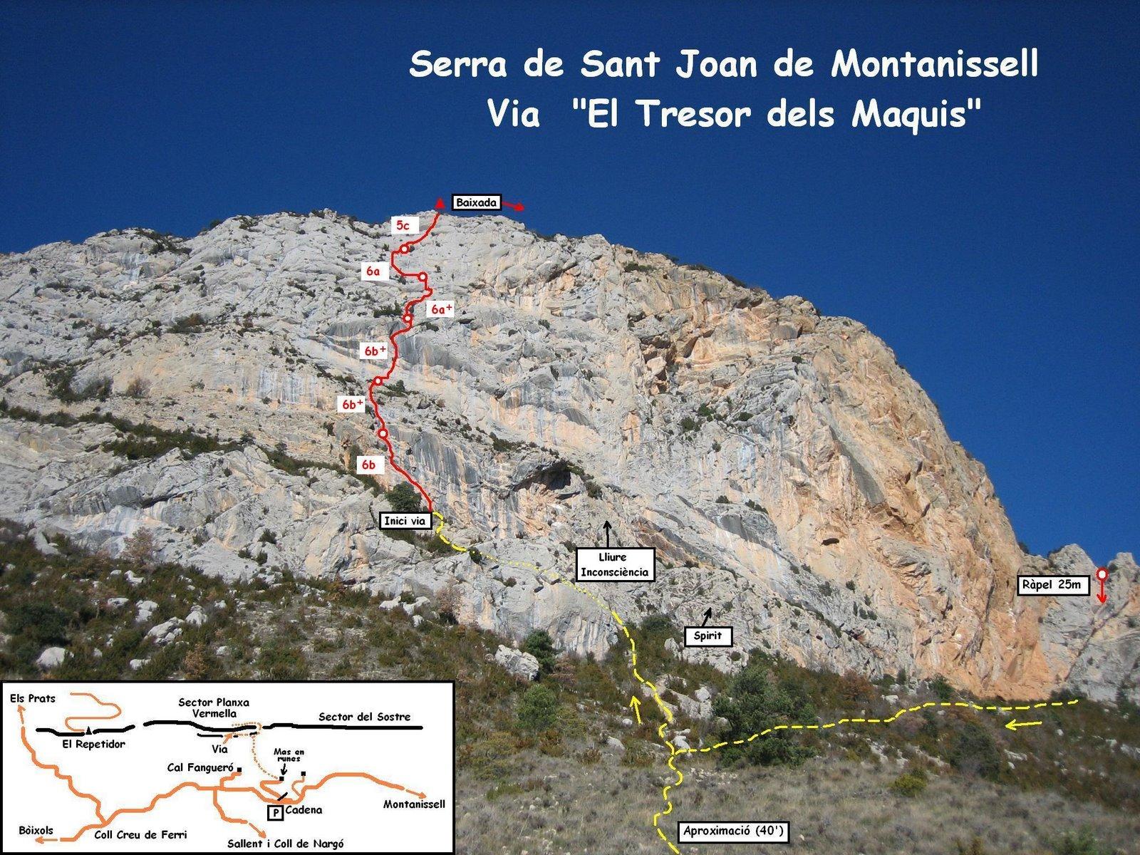 """Via """"El Tresor dels Maquis""""    Montanissell PlanxaVermella"""