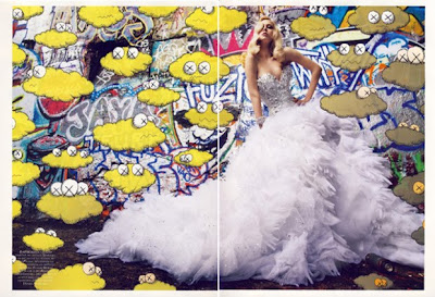 Vogue Paris and KAWS - Graffiti Couture @ sweetassugarman.blogspot.com