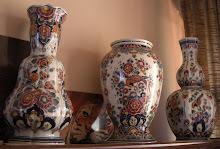 Velsen polychrome large vases