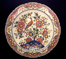 Large Velsen polychrome wall plate