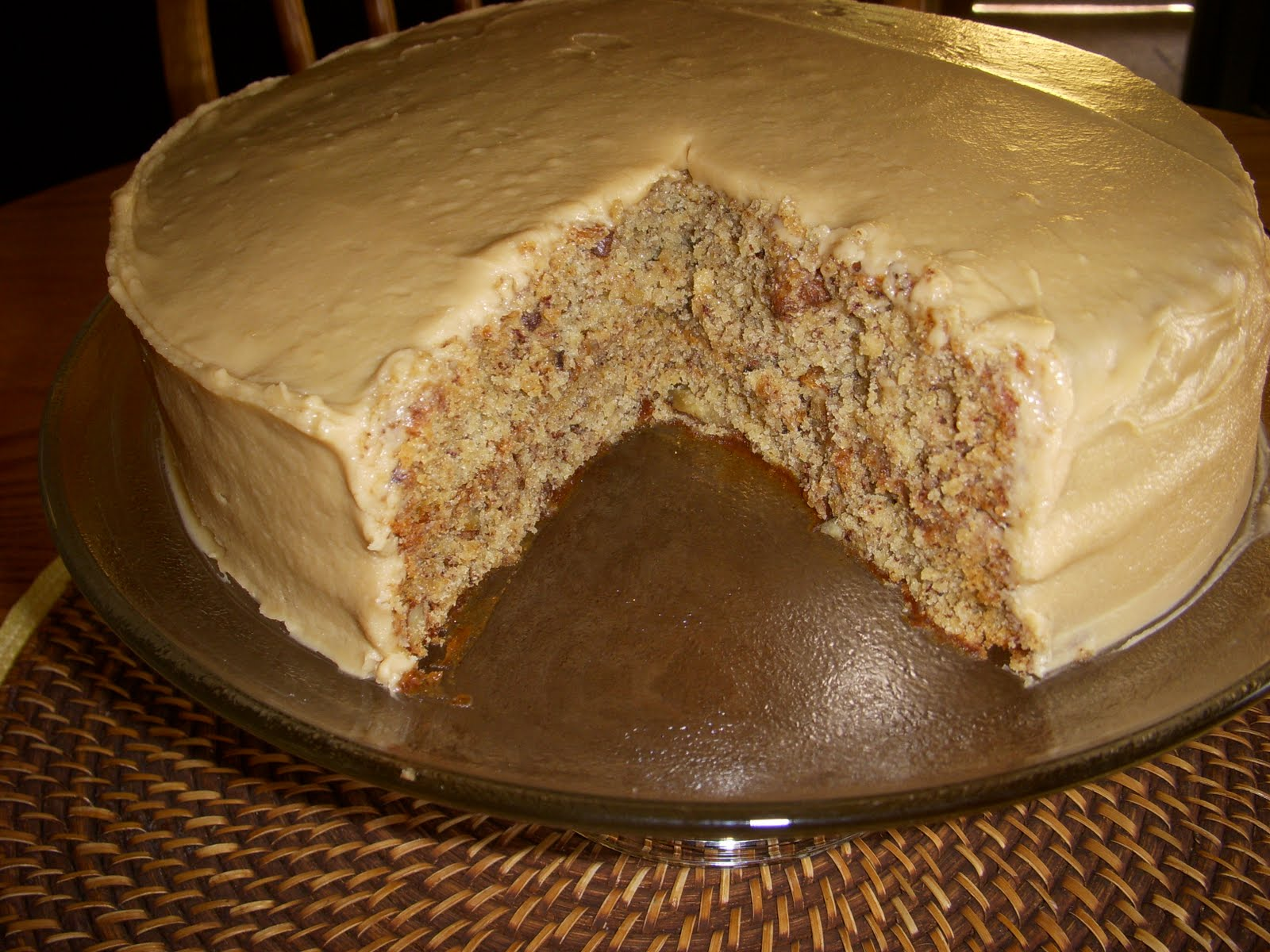 Moist Banana Cake Recipe With Peanut Butter Frosting