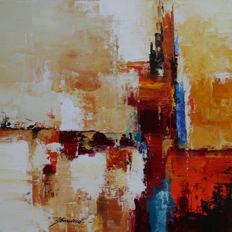 Mark yearwood abstract art surreal view 8 39 39 x8 39 39 acrylic for How to paint with a palette knife with acrylics