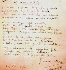 manuscrito de Gerardo Diego