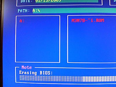 Erasing BIOS...