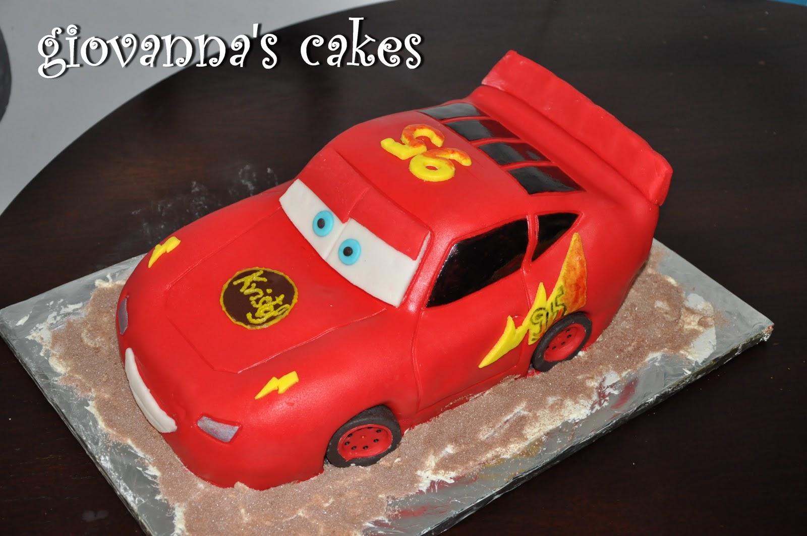 giovannas cakes Lightning Mcqueen cake