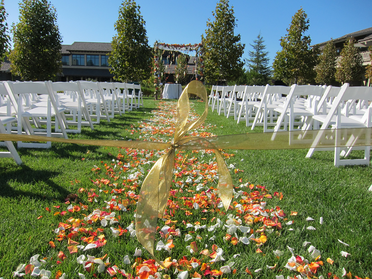 Fall wedding at Rosewood Sand Hill