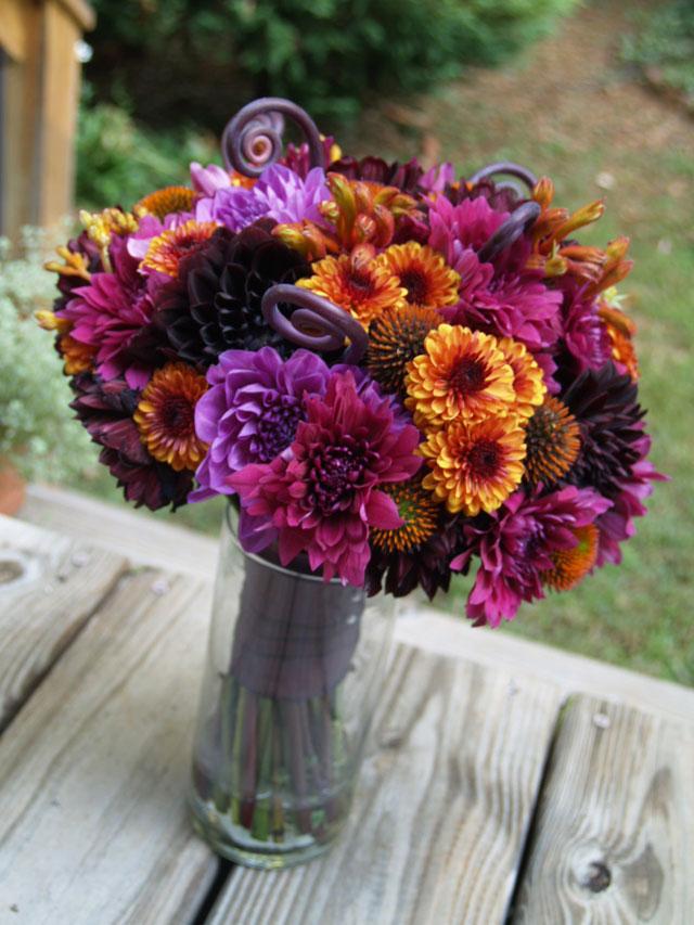 Purple Flowers For October Wedding : Firefly studios sneak peek leslie kenny