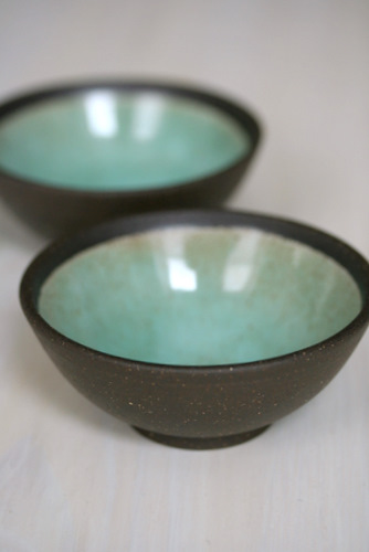 C S Projects Small Mint Green Bowls