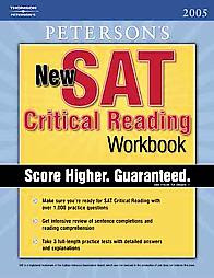 peterson's new SAT Critical reading workbook