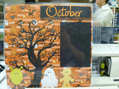 October Cricut Page