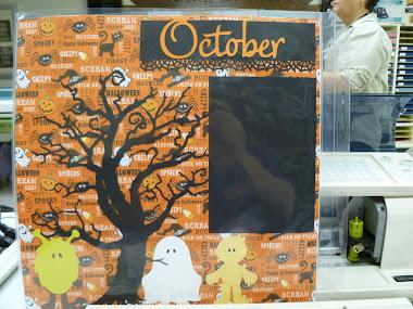 October Cricut Page