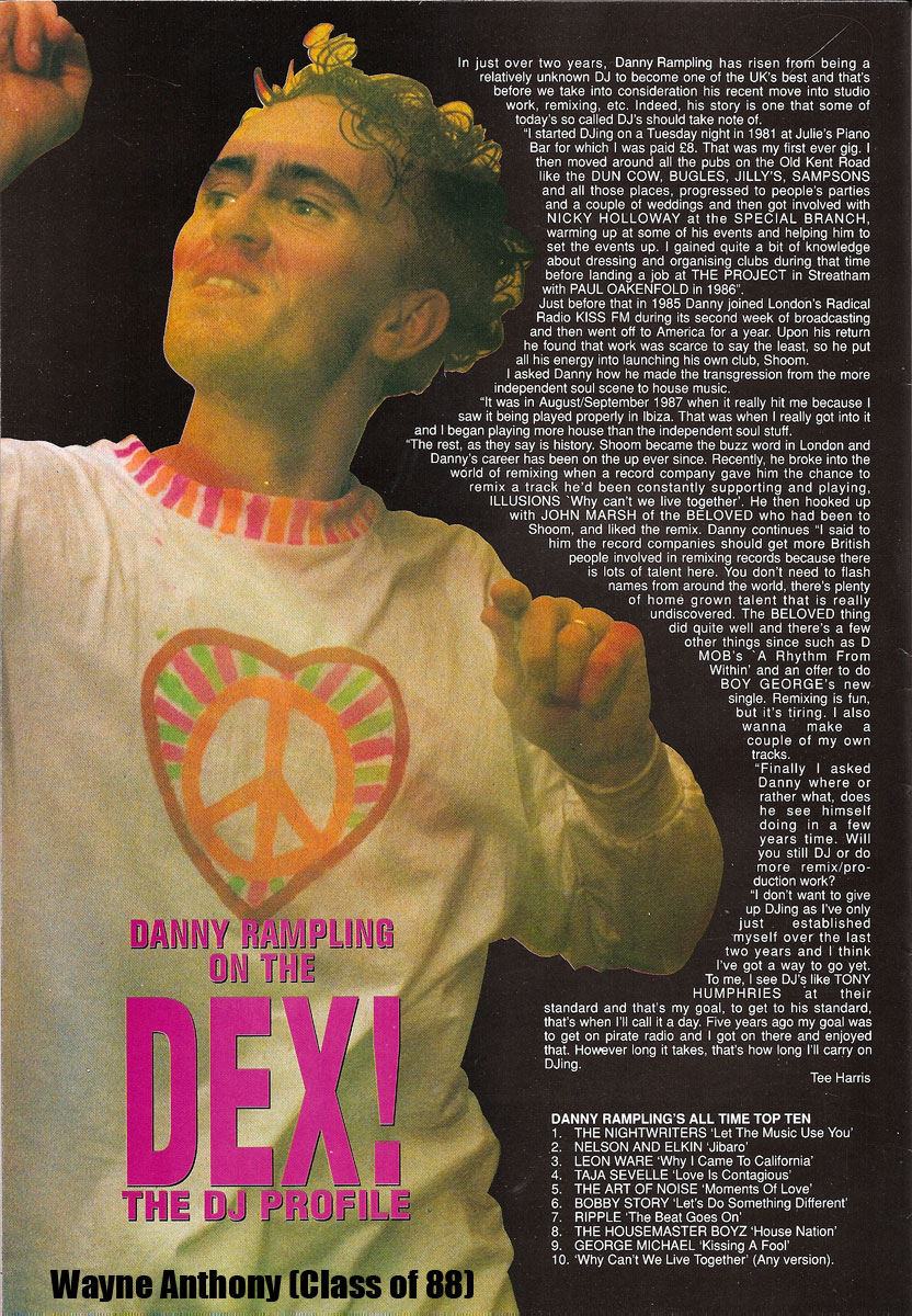 The history of acid house danny rampling interview acid for Acid house 1989