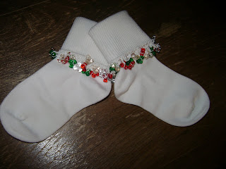 craft socks: beaded socks