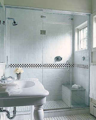 black and white tile bathroom. lack and white tile,