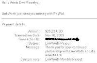 $250 Bayaran Pertama dari LinkWorth