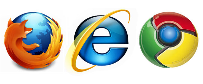 Internet-web-browsers-online-IE-Firefox-Chrome