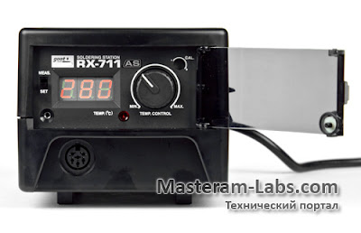 Панель управления паяльника Goot RX-711 AS