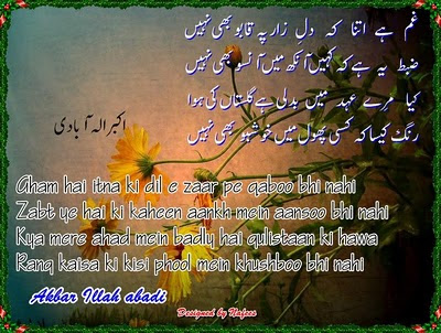 Urdu & Roman Poetry Card