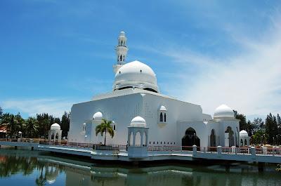 The Floating Masjid Of Terengganu Malaysia