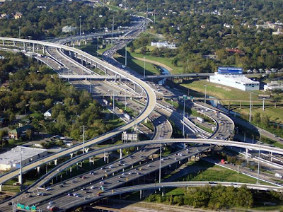 MOST COMPLEX INTER-CHANGE.........TEXAS Interstate 10 Highways Interchange......Houston, Texas.