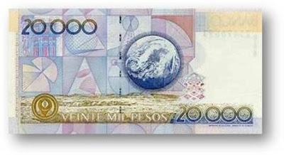 Veinil Mil Pesos 20000
