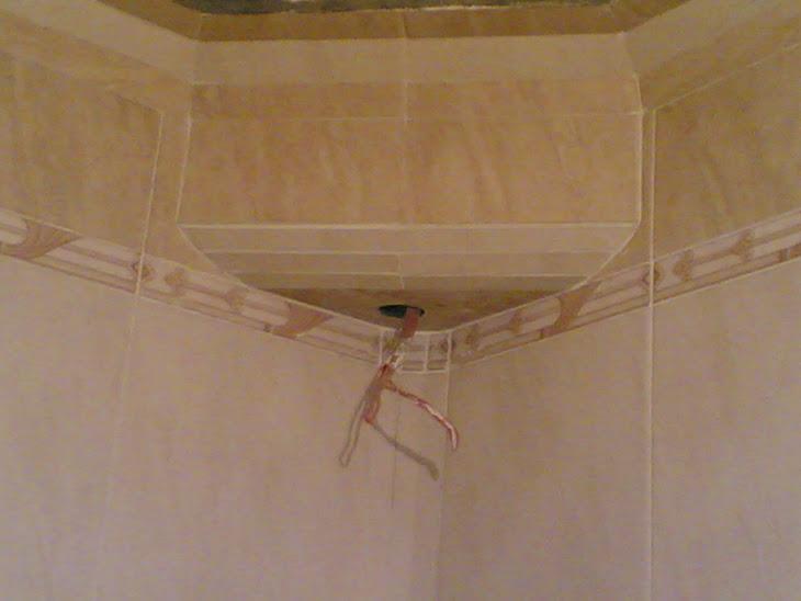 أسبوت مضيء فى أركان الحمام من السيرميك